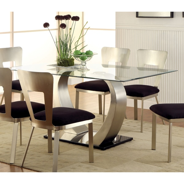 Sculpture Ii Contemporary Glass Top Dining Table Favorave