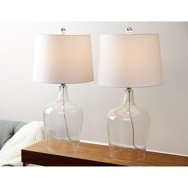 Azure Clear Glass Table Lamp