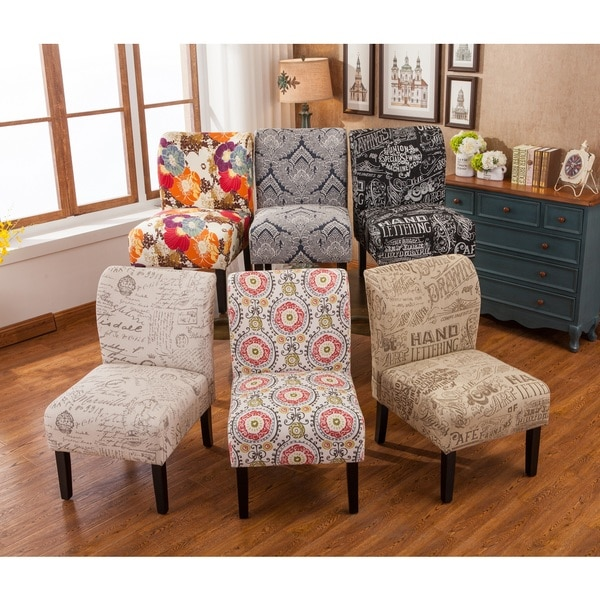 Ordinaire Capa Fabric Armless Contemporary Accent Slipper Chair
