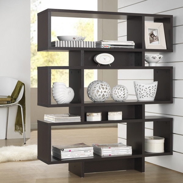 Bookshelves bookcases a collection by dorothy favorave for Furniture of america nara contemporary 6 shelf tiered open bookcase
